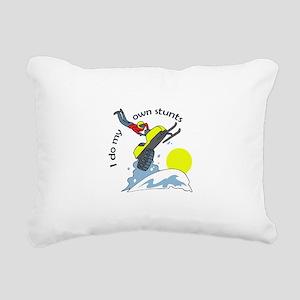 I DO MY OWN STUNTS Rectangular Canvas Pillow