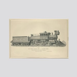 Fast Express Locomotive Engraving No.18 Magnets