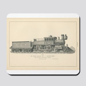 Fast Express Locomotive Engraving No.18 Mousepad