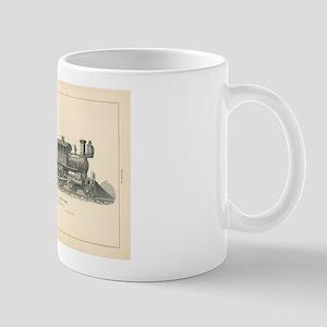 Fast Express Locomotive Engraving No.18 Mugs