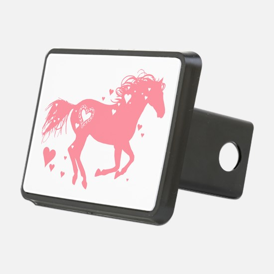 Pink Galloping Heart Horse Hitch Cover