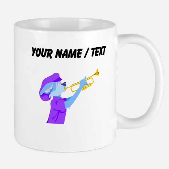 Custom Cat Playing Trumpet Mugs