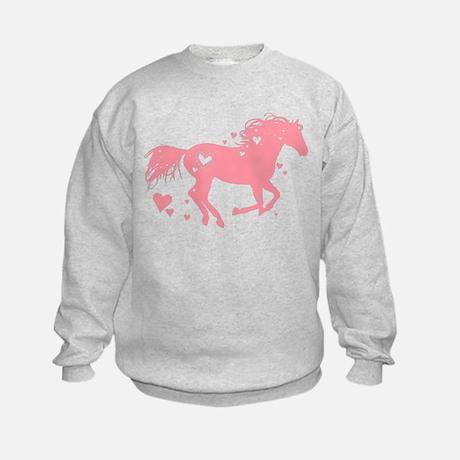 Pink Heart Horse Sweatshirt