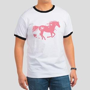 Pink Galloping Heart Horse T-Shirt