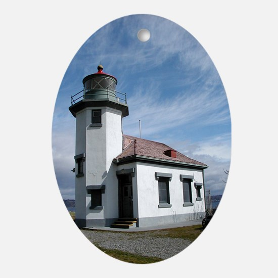 Point Robinson Lighthouse Oval Ornament