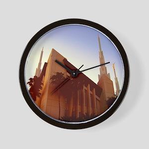 LDS Las Vegas Temple at Sunset Wall Clock