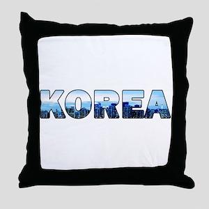 Korea 001 Throw Pillow