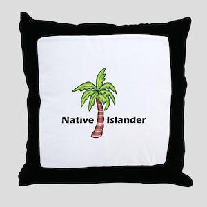 Native Islander Throw Pillow