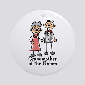 Groom's Grandmother Ornament (Round)