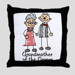Groom's Grandmother Throw Pillow