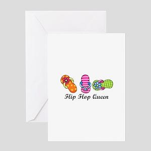 Flip Flop Queen Greeting Cards