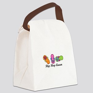 Flip Flop Queen Canvas Lunch Bag