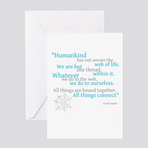 Web of Life Greeting Cards