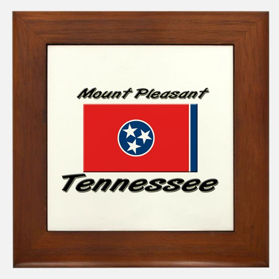 Mount Pleasant Tennessee Framed Tile