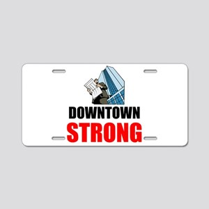 Downtown Strong Aluminum License Plate