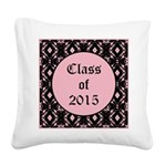 Class of 2015 Pink Pointe Square Canvas Pillow