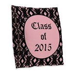Class of 2015 Pink Pointe Burlap Throw Pillow