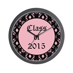 Class of 2015 Pink Pointe Wall Clock