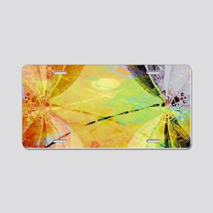 Colorful dragonfly reflecti Aluminum License Plate