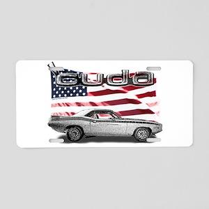 Cuda Aluminum License Plate