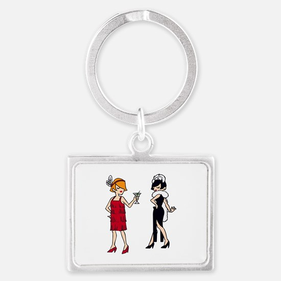 VINTAGE FASHION FLAPPERS Keychains