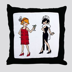 VINTAGE FASHION FLAPPERS Throw Pillow