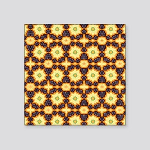 "Funky Flowers Square Sticker 3"" x 3"""