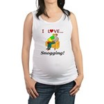 I Love Snogging Maternity Tank Top