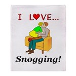 I Love Snogging Throw Blanket
