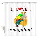 I Love Snogging Shower Curtain