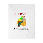 I Love Snogging Twin Duvet