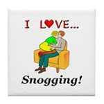 I Love Snogging Tile Coaster