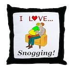 I Love Snogging Throw Pillow