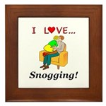 I Love Snogging Framed Tile