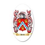 Hvidt 35x21 Oval Wall Decal