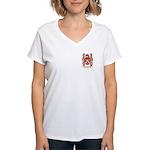 Hvid Women's V-Neck T-Shirt