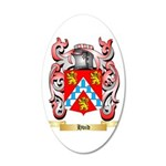 Hvid 20x12 Oval Wall Decal