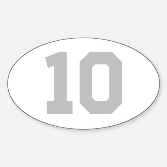 SILVER #10 Sticker (Oval)