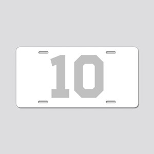 SILVER #10 Aluminum License Plate