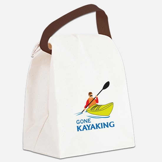 GONE KAYAKING Canvas Lunch Bag