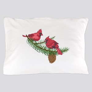 CARDINALS IN PINE TREE Pillow Case
