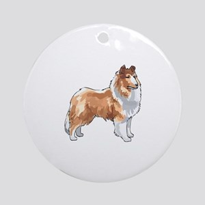 ROUGH COLLIE Ornament (Round)