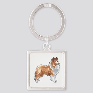 ROUGH COLLIE Keychains