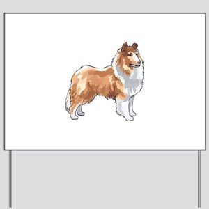 ROUGH COLLIE Yard Sign