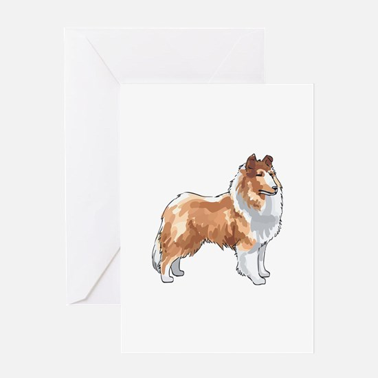 ROUGH COLLIE Greeting Cards