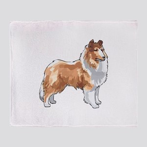 ROUGH COLLIE Throw Blanket