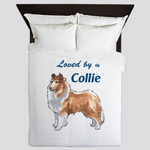 LOVED BY A COLLIE Queen Duvet