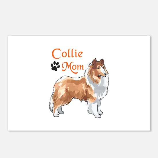 COLLIE MOM Postcards (Package of 8)