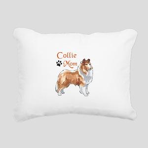 COLLIE MOM Rectangular Canvas Pillow