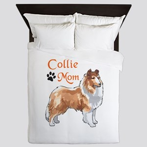 COLLIE MOM Queen Duvet